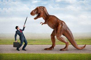 hostile business takeover concept